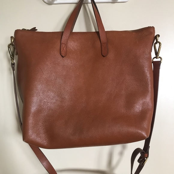 fd5690ce35 Madewell Handbags - Madewell Zip Top Transport Leather Carryall